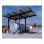 Výdajné stanice s kovovými nádržami